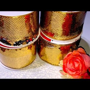 GOLD SEQUIN RIBBON SET